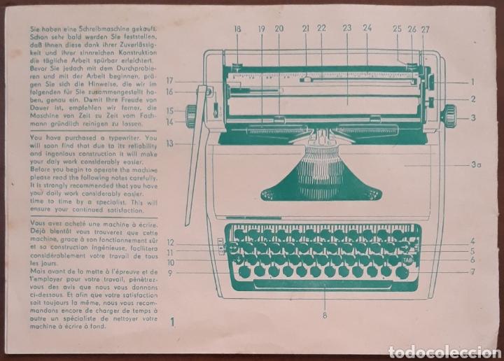 Antigüedades: Máquina de escribir Erika Robotron con maleta modelo 105 - Foto 6 - 221665082