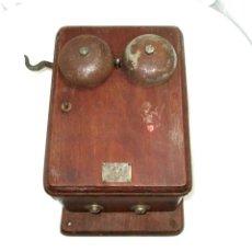 Teléfonos: TELÉFONO MURAL ATEA DE FABRICACIÓN BELGA, ORIGINAL DE 1925/30. MUY RARO.. Lote 221698113