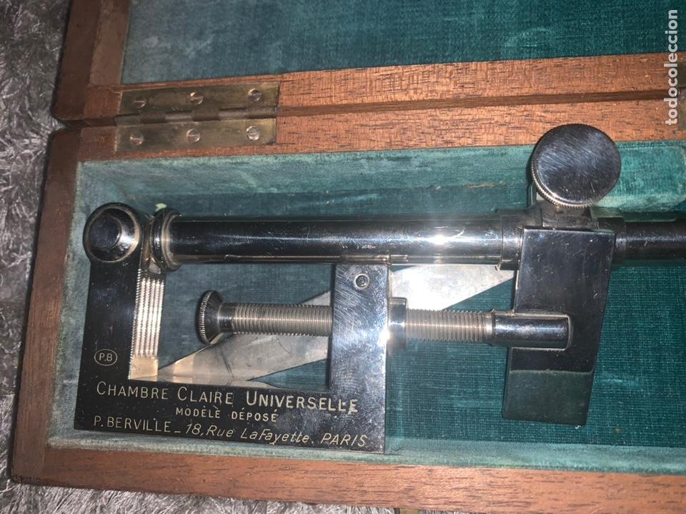 CÁMARA LÚCIDA, PARIS, SIGLO XIX, COMPLETO CON SU LLAVE Y SUS LENTES (Antigüedades - Técnicas - Otros Instrumentos Ópticos Antiguos)
