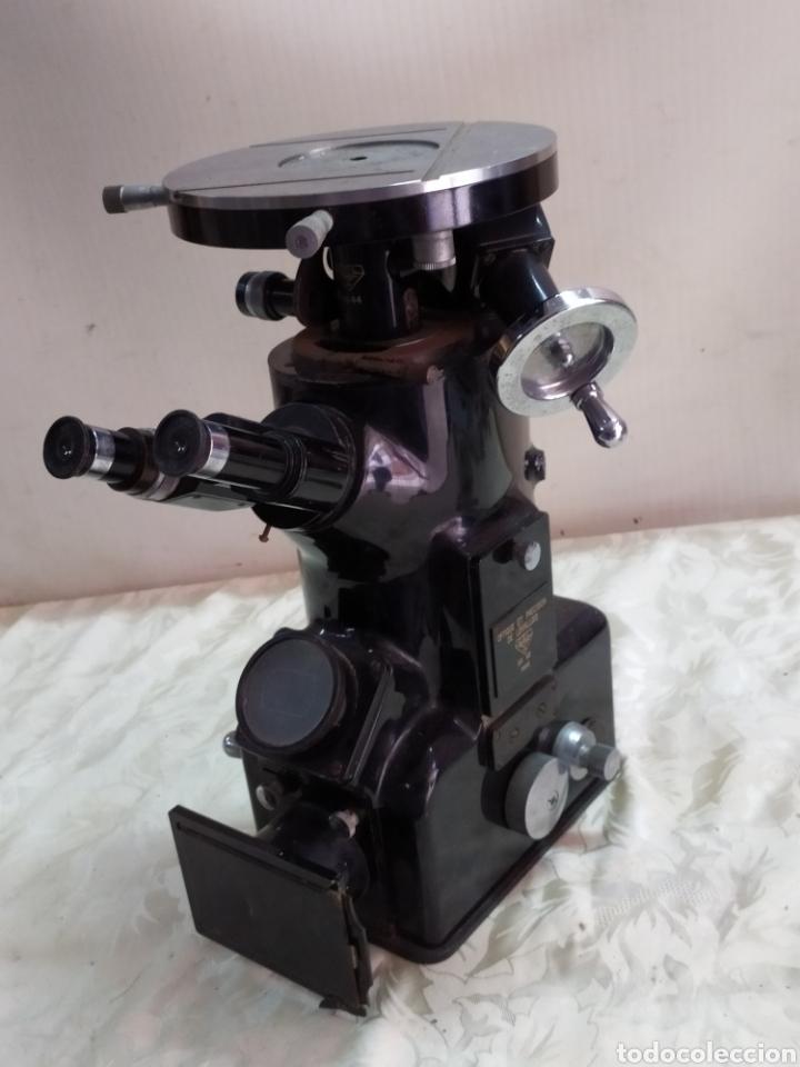 IMPRESIONANTE MICROSCOPIO DE PARÍS SIGLO XIX (Antigüedades - Técnicas - Instrumentos Ópticos - Microscopios Antiguos)