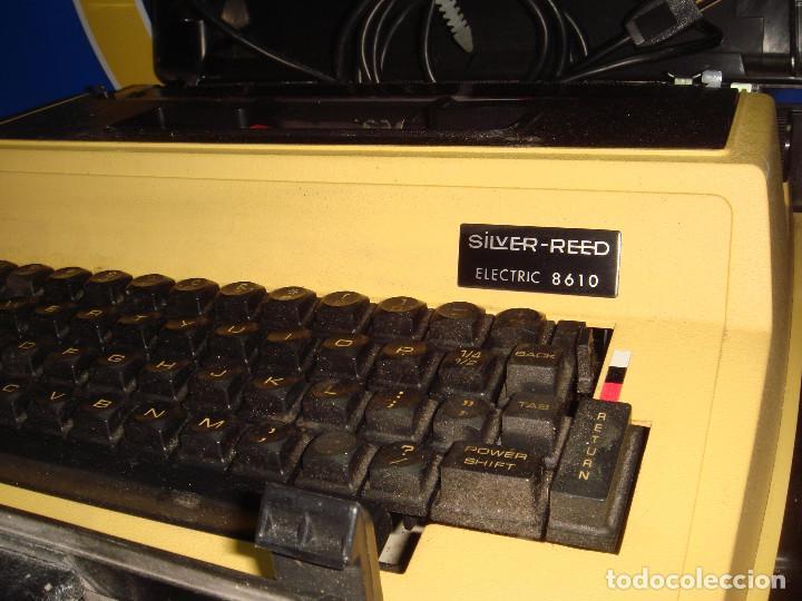 Antigüedades: Maquina de escribir vintaje electrica SILVER-REED electric 8610 - Foto 4 - 221737842