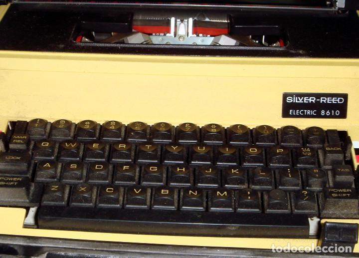 Antigüedades: Maquina de escribir vintaje electrica SILVER-REED electric 8610 - Foto 5 - 221737842