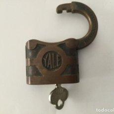 Antigüedades: ANTIGUO CANDADO YALE & TOWNE MFC CO CON LLAVE ALTONA BRANCH Y&T. Lote 221779718