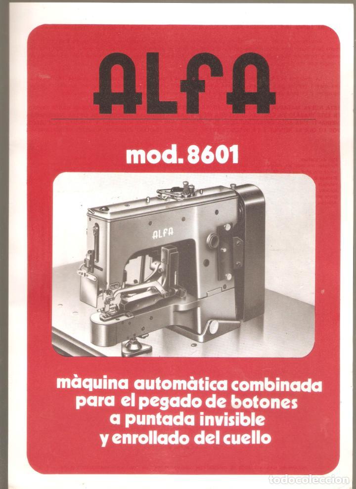 Antigüedades: ALFA- catalogo de maquinas de coser.mas de 30 modelos. 20x 30cms. . Vell i Bell. - Foto 3 - 221811351