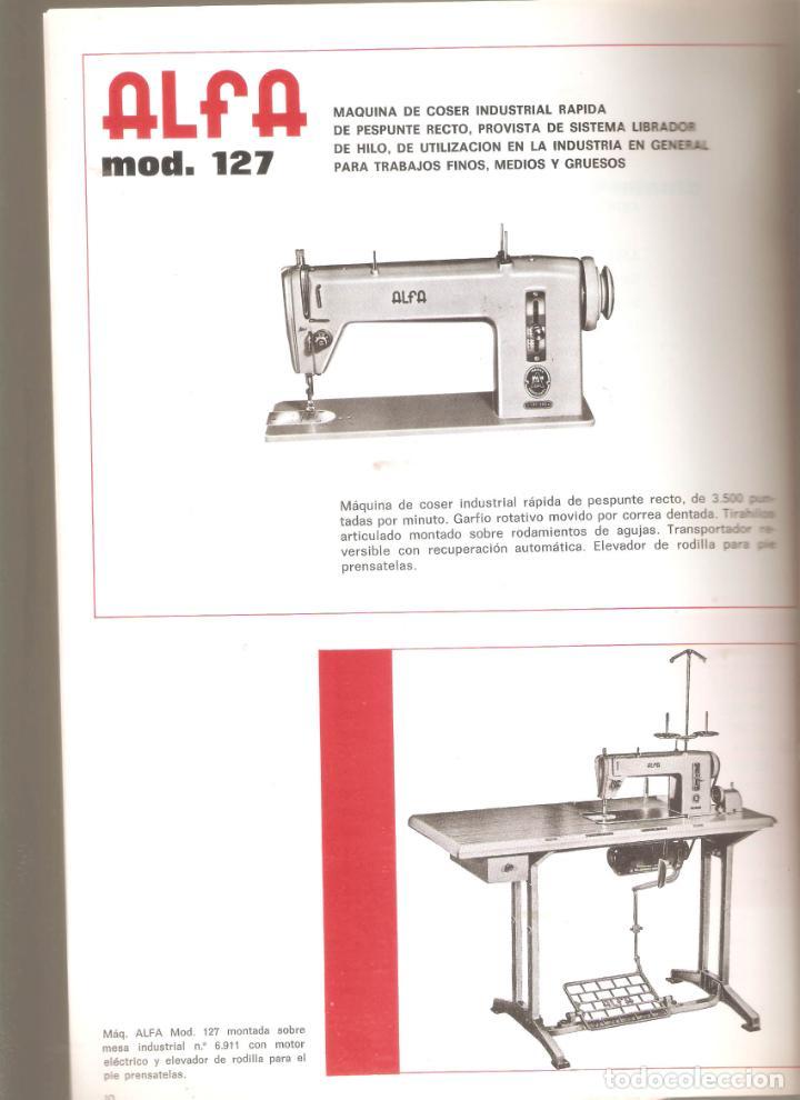 Antigüedades: ALFA- catalogo de maquinas de coser.mas de 30 modelos. 20x 30cms. . Vell i Bell. - Foto 4 - 221811351