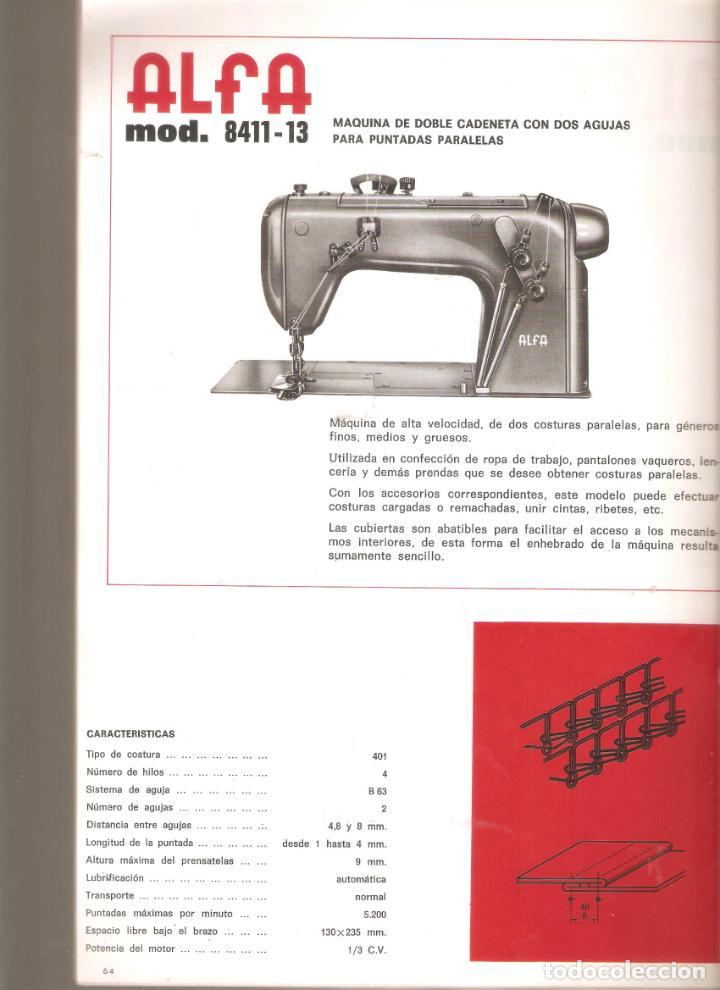 Antigüedades: ALFA- catalogo de maquinas de coser.mas de 30 modelos. 20x 30cms. . Vell i Bell. - Foto 5 - 221811351