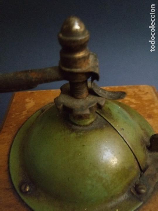 Antigüedades: ANTIGUO MOLINILLO DE CAFÉ - MARCA ELMA - MADERA Y METAL - 12 x 10 CMS - Foto 11 - 221867908