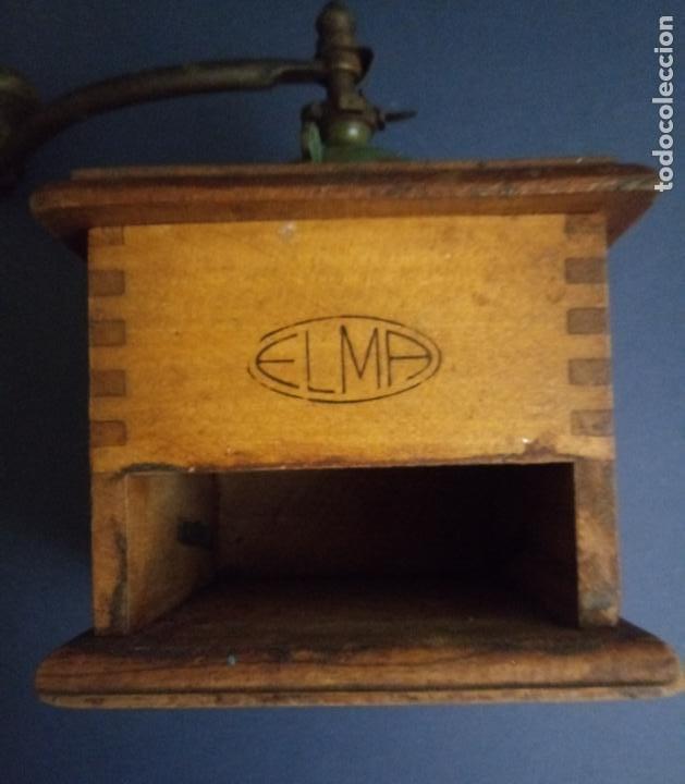 Antigüedades: ANTIGUO MOLINILLO DE CAFÉ - MARCA ELMA - MADERA Y METAL - 12 x 10 CMS - Foto 13 - 221867908