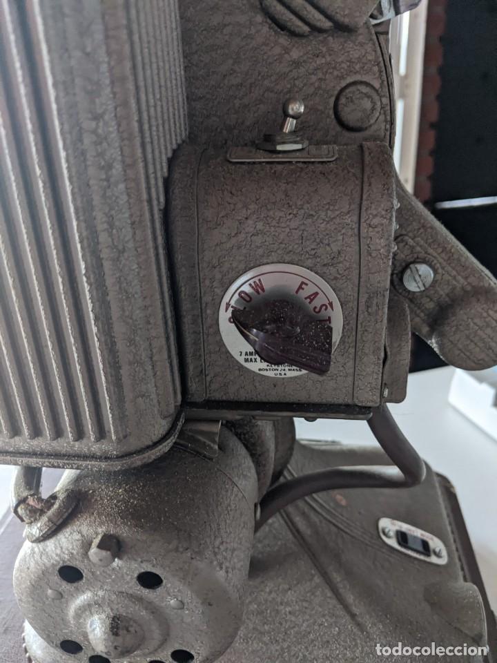 Antigüedades: 1940 PROYECTOR KEYSTONE MODELO BELMONT K-161 IMPECABLE - 16 MM - BOSTON - ESTADOS UNIDOS - Foto 6 - 221895183