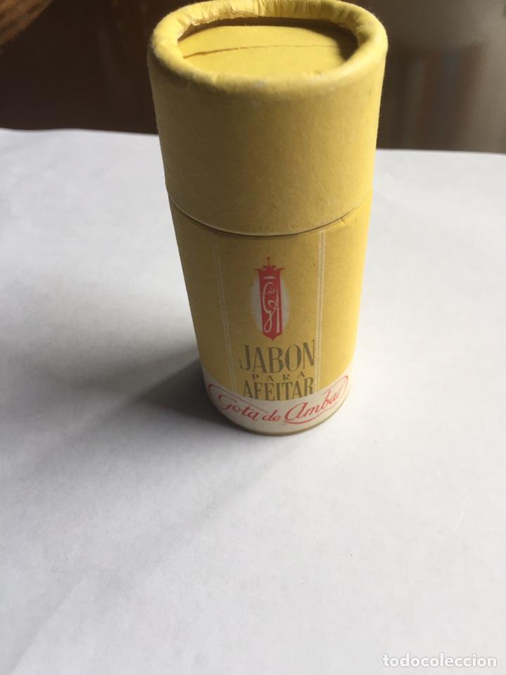 JABÓN DE AFEITAR GOTA DE ÁMBAR NUEVO Y COMPLETO BARCELONA (Antigüedades - Técnicas - Barbería - Varios Barbería Antiguas)