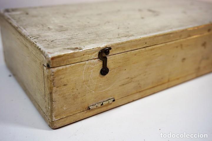 Antigüedades: ANTIGUA CAJA PARA PREPARACIONES MICROSCOPICAS c.1900 - Foto 5 - 221940100