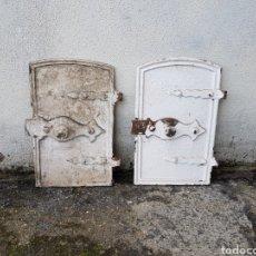 Antigüedades: PUERTA DE HIERRO ANTIGUA DE COCINA DE DE CARBON AÑOS 30 APROX. Lote 221976862