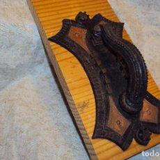 Antigüedades: LLAMADOR DE HIERRO FORJADO Y COBRE. Lote 222011856