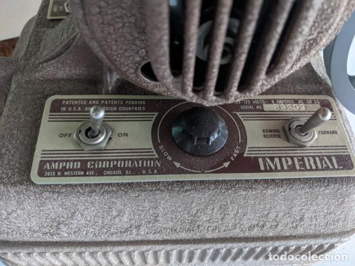 Antigüedades: 1940 PROYECTOR CINE 16 MM IMPERIAL IMPECABLE ESTADOS UNIDOS PIEZA DE PRECISION ESPECTACULAR - Foto 6 - 222018288