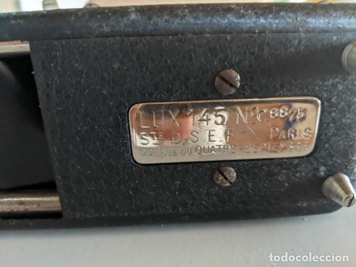 Antigüedades: PROYECTOR LUX 145 FABRICADO EN PARIS STE. O.S.E.F. 22 RUE DU QUATRE - AÑOS 40 - Foto 4 - 222019190