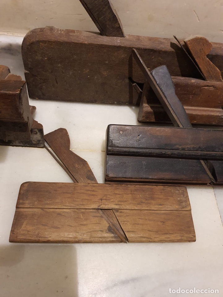 Antigüedades: Buen lote de útiles de carpintero antiguas - Foto 2 - 222028035