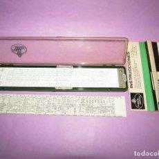 Antigüedades: ANTIGUA REGLA DE CÁLCULO DE PRECISIÓN NOVO BIPLEX 2/83 N DE FABER CASTELL - 38 CM. MADE IN GERMANY. Lote 222035426