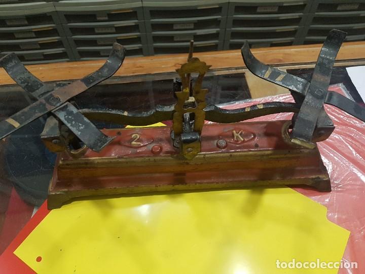Antigüedades: BALANZA CIMAS VALENCIA - 2 KG - CON PESAS PARCIALES - VER FOTOS - Foto 2 - 222067925