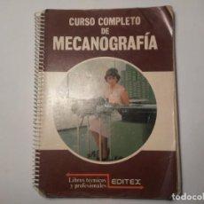 Antigüedades: CURSO COMPLETO DE MECANOGRAFÍA LIBROS TÉCNICOS Y PROFESIONALES EDITEX 1989. Lote 222072910