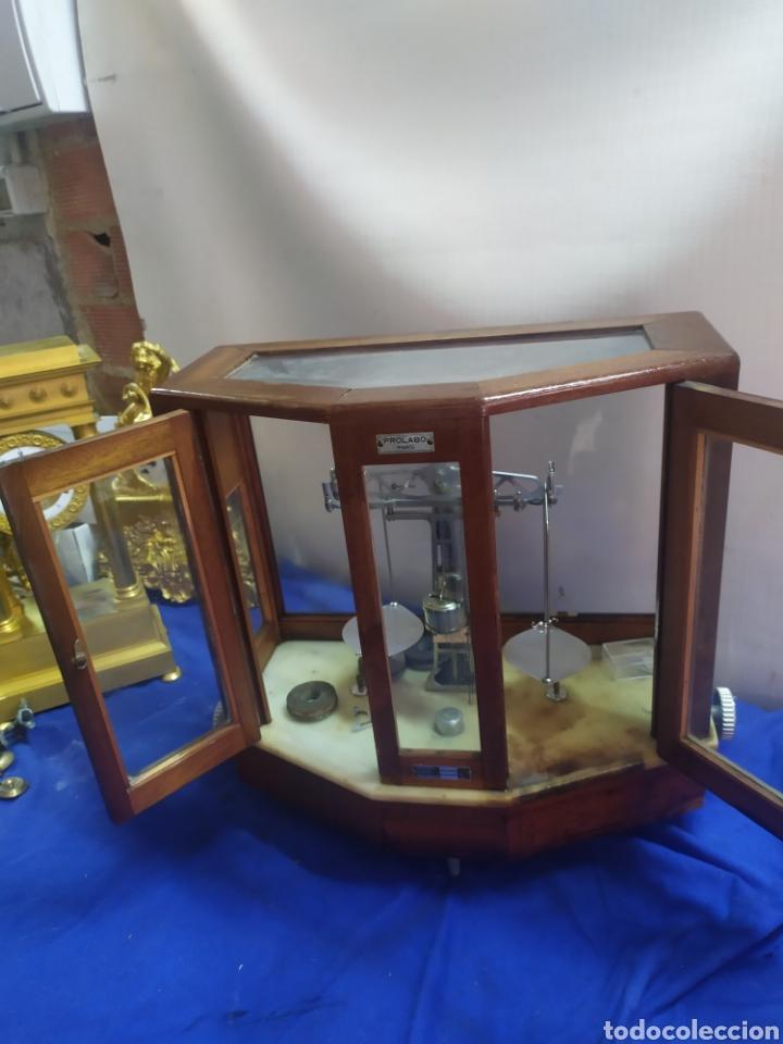 IMPRESIONANTE BALANZA VITRINA DE FARMACIA PARÍS SIGLO XIX (Antigüedades - Técnicas - Medidas de Peso - Balanzas Antiguas)