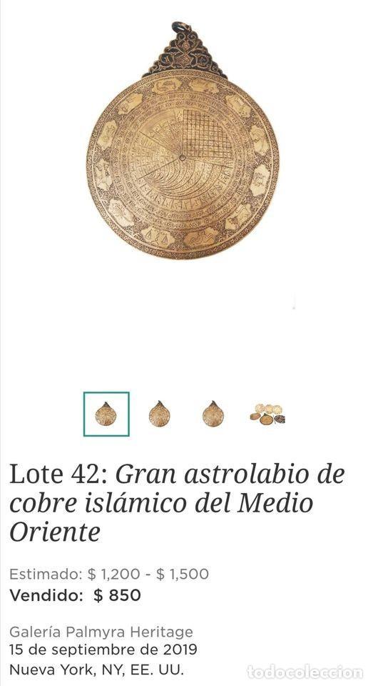 Antigüedades: ASTROLABIO OTOMANO SIGLO XVIII-XIX - Foto 12 - 126893051