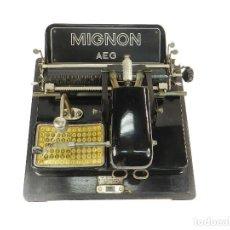 Antigüedades: MAQUINA DE ESCRIBIR MIGNON Nº3 1915 TYPEWRITER SCHREIBMASCHINE MACHINE ECRIRE. Lote 222271057