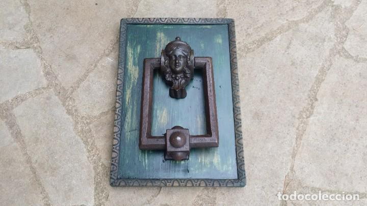 ANTIGUA ALDABA MODERNISTA. (Antigüedades - Técnicas - Cerrajería y Forja - Aldabas Antiguas)