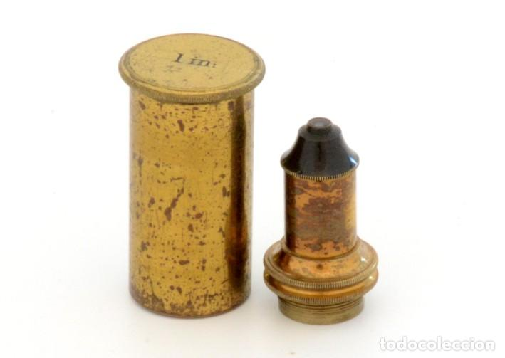 Antigüedades: Objetivo microscopio antiguo s.XIX - Foto 3 - 222272570