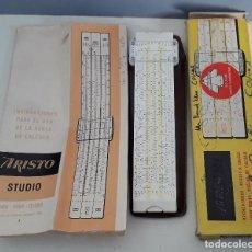 Antigüedades: REGLA DE CALCULO ARISTO STUDIO 868, CON FUNDA Y MANUAL, 21CM APROX. Lote 222274842