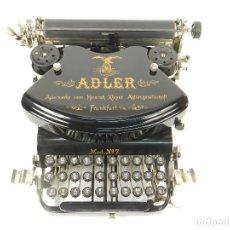 Antigüedades: MAQUINA DE ESCRIBIR ADLER Nº7 AÑO 1900 TYPEWRITER SCHREIBMASCHINE ECRIRE. Lote 222276108