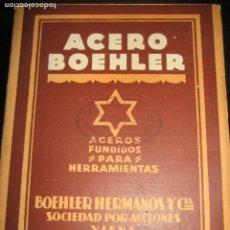 Antigüedades: BONITO CATALOGO ACERO BOEHLER ACEROS FUNDIDOS PARA HERRAMIENTAS . VIENA. DESPLEGABLE. Lote 222283548
