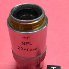 Antigüedades: OBJETIVO MICROSCOPIO LEITZ WETZLAR NPL 20X/0.40. Lote 222294985
