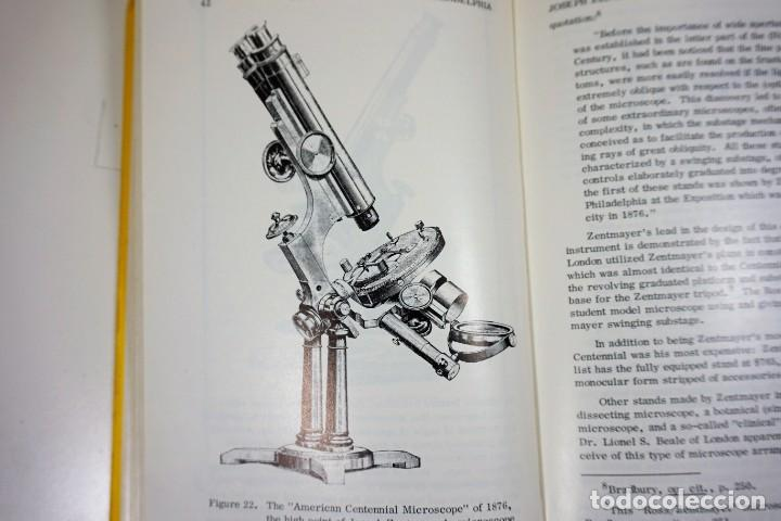 Antigüedades: Historia del Microscopio. Libro 'Short History of the Early American Microscopes' 1975 - Foto 2 - 222319091
