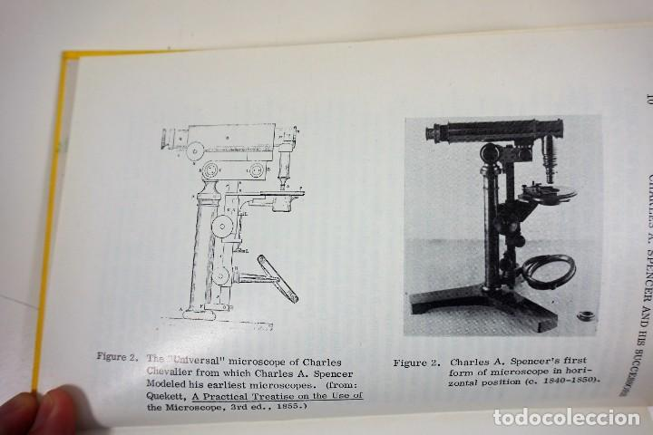 Antigüedades: Historia del Microscopio. Libro 'Short History of the Early American Microscopes' 1975 - Foto 3 - 222319091