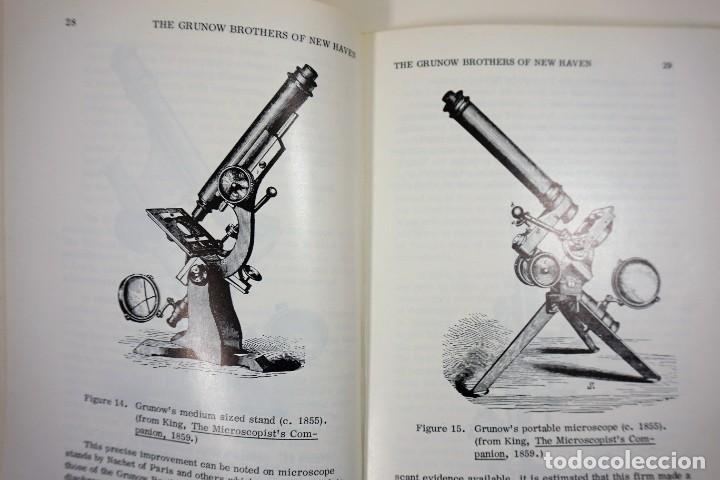 Antigüedades: Historia del Microscopio. Libro 'Short History of the Early American Microscopes' 1975 - Foto 4 - 222319091