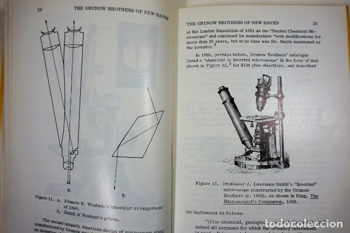 Antigüedades: Historia del Microscopio. Libro 'Short History of the Early American Microscopes' 1975 - Foto 6 - 222319091