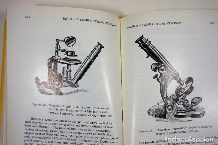 Antigüedades: Historia del Microscopio. Libro 'Short History of the Early American Microscopes' 1975 - Foto 10 - 222319091