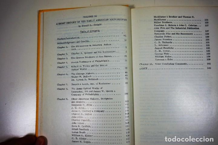 Antigüedades: Historia del Microscopio. Libro 'Short History of the Early American Microscopes' 1975 - Foto 20 - 222319091