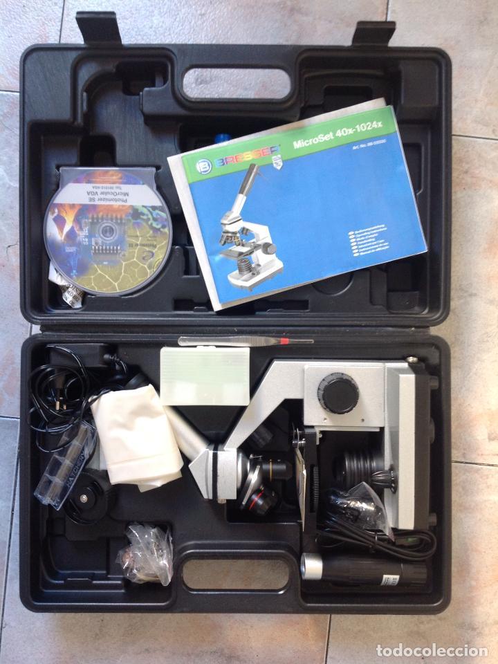 MICROSCOPIO ELECTRÓNICO BRESSER (Antigüedades - Técnicas - Instrumentos Ópticos - Microscopios Antiguos)