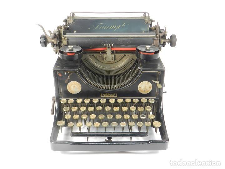 Antigüedades: MAQUINA DE ESCRIBIR TRIUMPH Nº1 1909 TYPEWRITER SCHREIBMASCHINE A ECRIRE - Foto 2 - 222335077