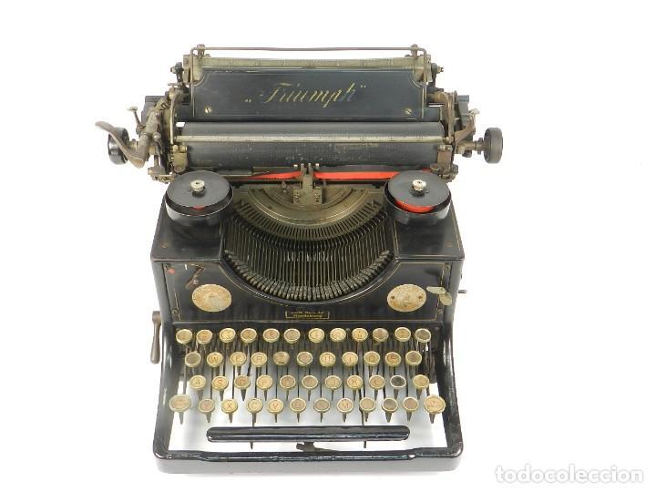 Antigüedades: MAQUINA DE ESCRIBIR TRIUMPH Nº1 1909 TYPEWRITER SCHREIBMASCHINE A ECRIRE - Foto 3 - 222335077