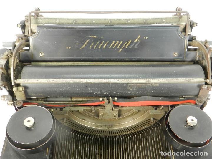 Antigüedades: MAQUINA DE ESCRIBIR TRIUMPH Nº1 1909 TYPEWRITER SCHREIBMASCHINE A ECRIRE - Foto 4 - 222335077