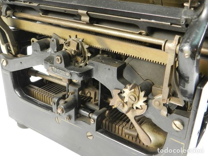 Antigüedades: MAQUINA DE ESCRIBIR TRIUMPH Nº1 1909 TYPEWRITER SCHREIBMASCHINE A ECRIRE - Foto 10 - 222335077