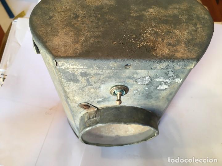 Antigüedades: antigua linterna minero completa no funciona - Foto 3 - 222347032