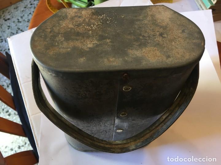 Antigüedades: antigua linterna minero completa no funciona - Foto 4 - 222347032