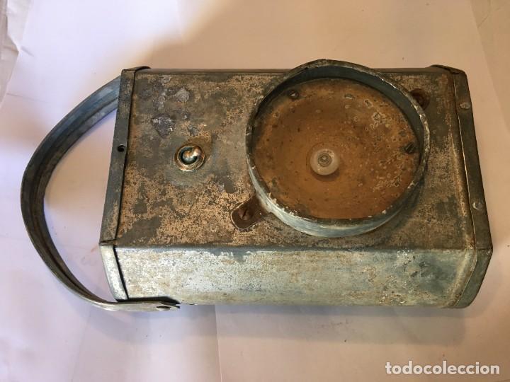 Antigüedades: antigua linterna minero completa no funciona - Foto 6 - 222347032