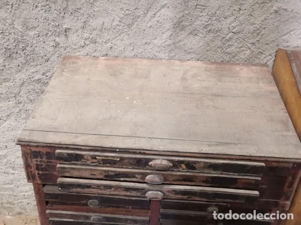 Antigüedades: CHIBALETE - CAJONERA - MUEBLE DE IMPRENTA CON CAJONES - Foto 2 - 222356535