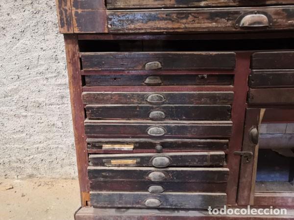 Antigüedades: CHIBALETE - CAJONERA - MUEBLE DE IMPRENTA CON CAJONES - Foto 6 - 222356535