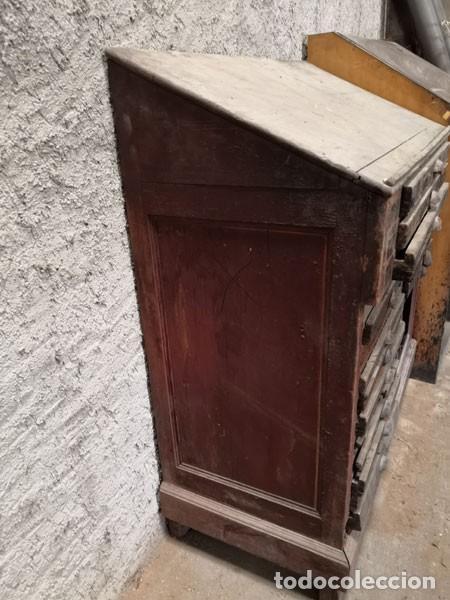 Antigüedades: CHIBALETE - CAJONERA - MUEBLE DE IMPRENTA CON CAJONES - Foto 8 - 222356535