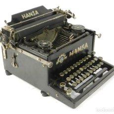 Antigüedades: RARA MAQUINA DE ESCRIBIR HANSA AÑO 1924 TYPEWRITER SCHREIBMASCHINE A ECRIRE. Lote 222376096